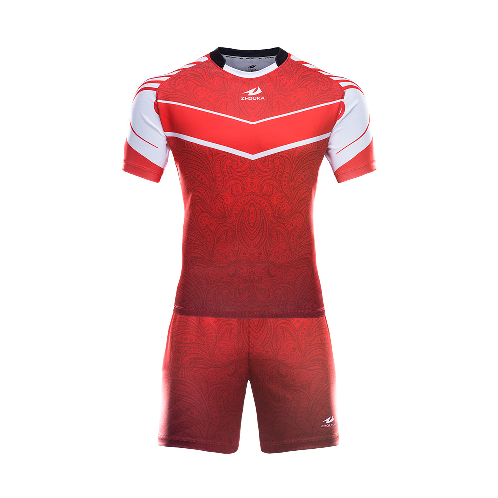 Full Personalized Design Rugby Jersey Uniform In Thailand Any Color Pattern Custom Red Rugby Jersey Kids Men Sport Clothes