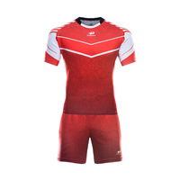 Full Personalized design rugby jersey in thailand any color pattern design custom red rugby jersey kids or adult with your name