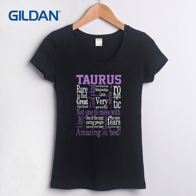 US $14 5 |Print Own Tee Shirt 2018 Taurus Zodiac Sign Funny Quote Amazing  Company T Shirt Hip Womens Fashion T Shirt Camisa-in T-Shirts from Women's