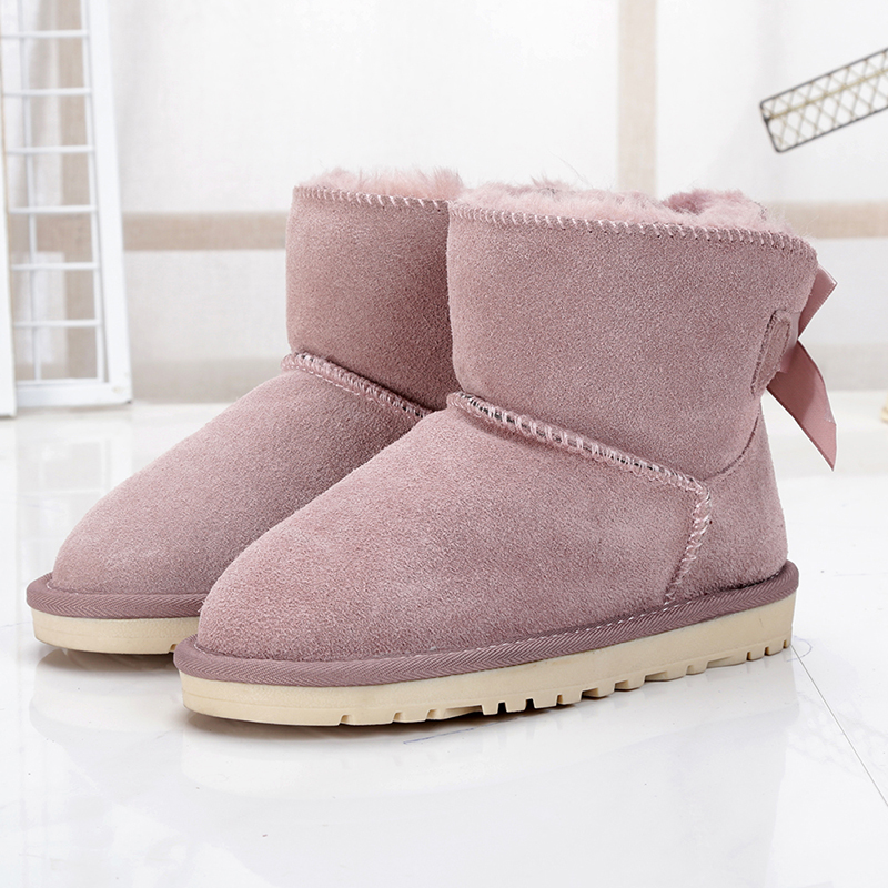 MIYAGINA High quality 100% genuine Cowhide leather children boots 2019 New girls boots waterproof snow boots kids winter shoesMIYAGINA High quality 100% genuine Cowhide leather children boots 2019 New girls boots waterproof snow boots kids winter shoes
