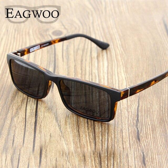 Ímã Óculos de Aro Full Frame Ótico Espetáculo Prescrição Miopia Olho Óculos  Quadrados Óculos De Sol a08930fab2
