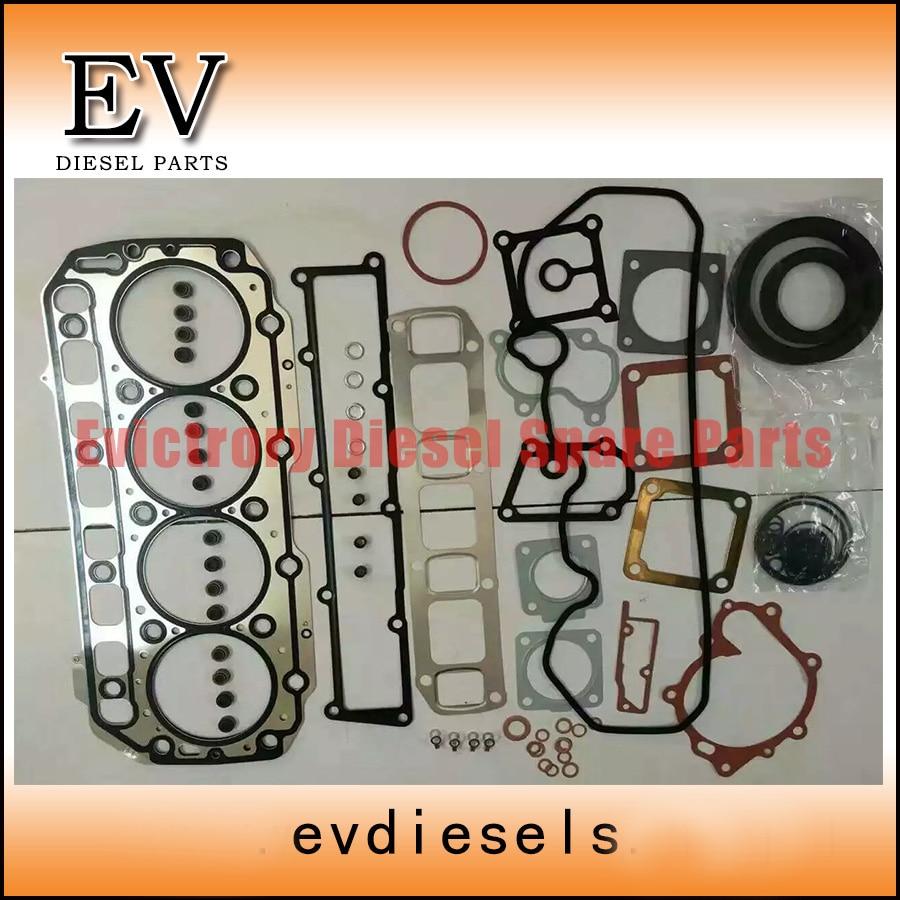 For Yanmar S4D106 4TNV106T 4TNV106 full gasket kit + piston ring set + bearing set oil pump title=