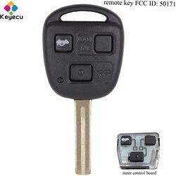 Część wymienna KEYECU ASK Keyless Remote Car Key - 3 przyciski i 433MHz i 4D68 Chip i TOY48 Uncut Blade - FOB dla Lexus FCC ID: 50171