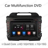 2 Din Android 4,4 Полная сенсорная панель gps Navi автомобильный dvd радиоплеер для KIA sportage Sportage 10 15 четырехъядерный зеркальный канал Wifi BT
