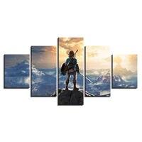 Large Framed Original art print poster canvas Legend of Zelda 5 pieces
