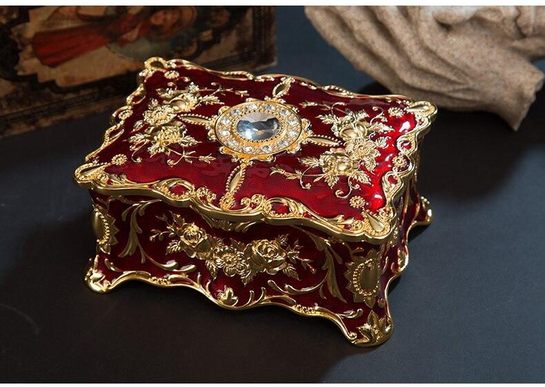 Mサイズアンティーク宝箱リング収納ボックス化粧オーガナイザーボックスジュエリー宝箱ケース装飾品旅行スーツケースZ046チェスト