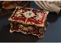 M size Antique Treasure Chest Rings Storage Box Makeup Organizer Box Jewelry Treasure Chest Case Ornaments Travel SuitcaseZ046