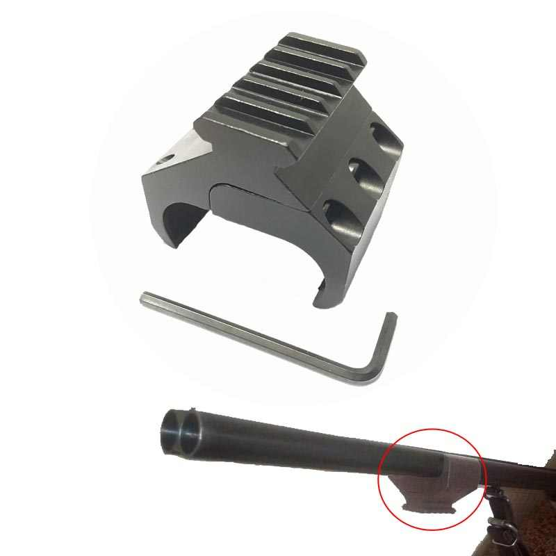 Dubbele Buis Rifle Picatinny Rail Adapter voor 20mm Weaver Zwaluwstaart Rail Laser Sight Mount Zaklamp Bipod VI05038