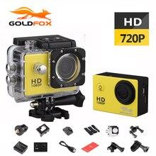 Goldfox 1.5 дюймов Экран 720 P HD Спорт Действие Камера 30 м Go Водонепроницаемый Открытый Спорт DV велосипед автомобильный видеорегистратор Cam Pro