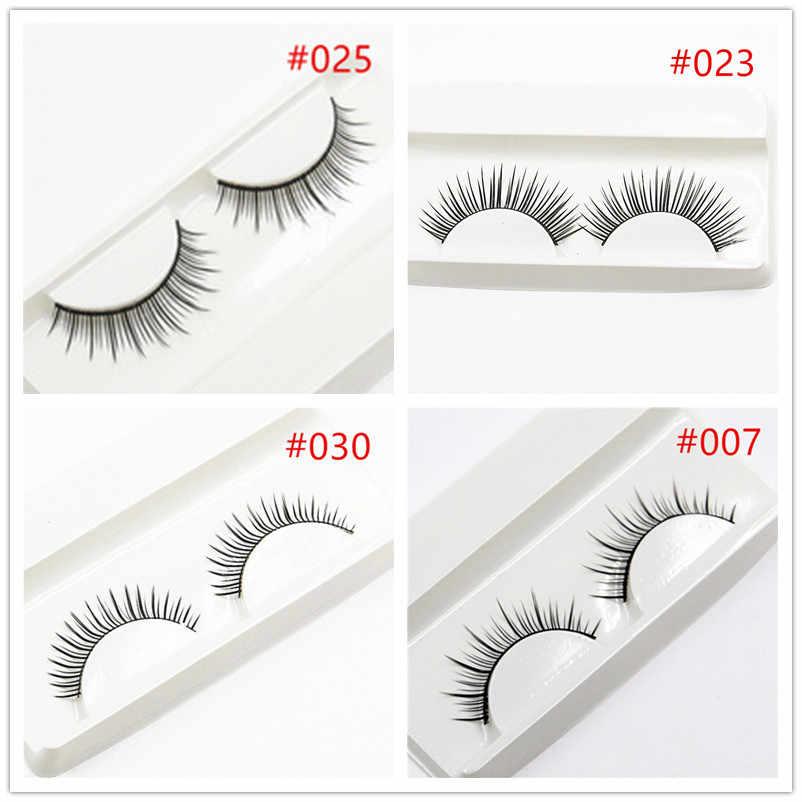 2018 nuevo 1 Uds. Vende pestañas postizas en 3D, maquillaje desnudo Natural de Corea, largas pestañas postizas, Kit de maquillaje para pestañas, regalo # D020