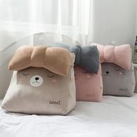 Cute Cat Pillow Rabbit Triangle Sofa Cushion Back Pillow Office Pillow Support Cushion Lounger TV Reading Lumbar Home Decor
