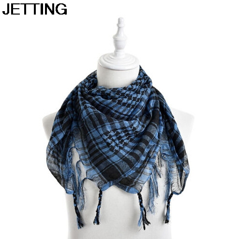 New Women Arab   Scarf   Shawl Shemagh Tactical Palestine Light   Scarf   For Men Fashion Plaid Printed Men   Scarf     Wraps