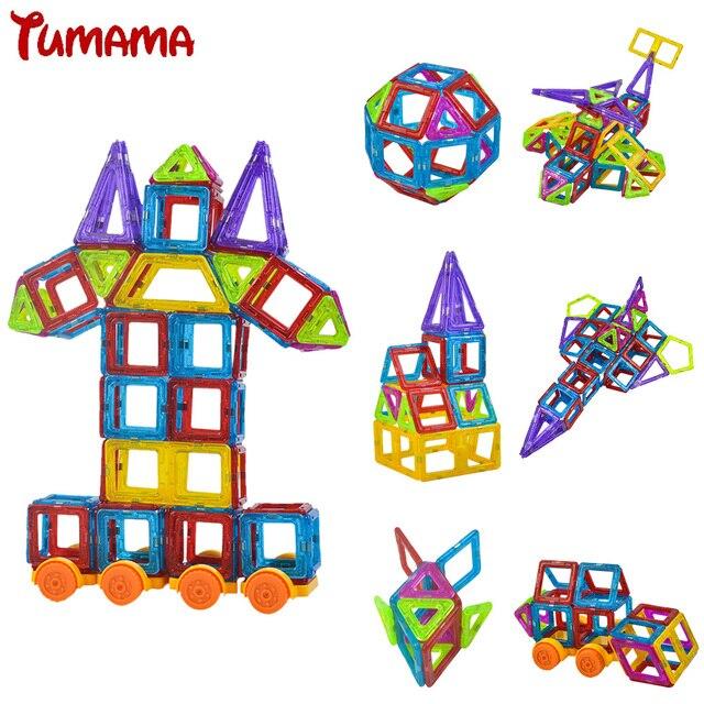 Мини 158 шт./лот Магнитные Строительство Модели Building Blocks Игрушки DIY 3D Магнитный Конструктор Обучения Образовательные Кирпичи Игрушки Для Детей
