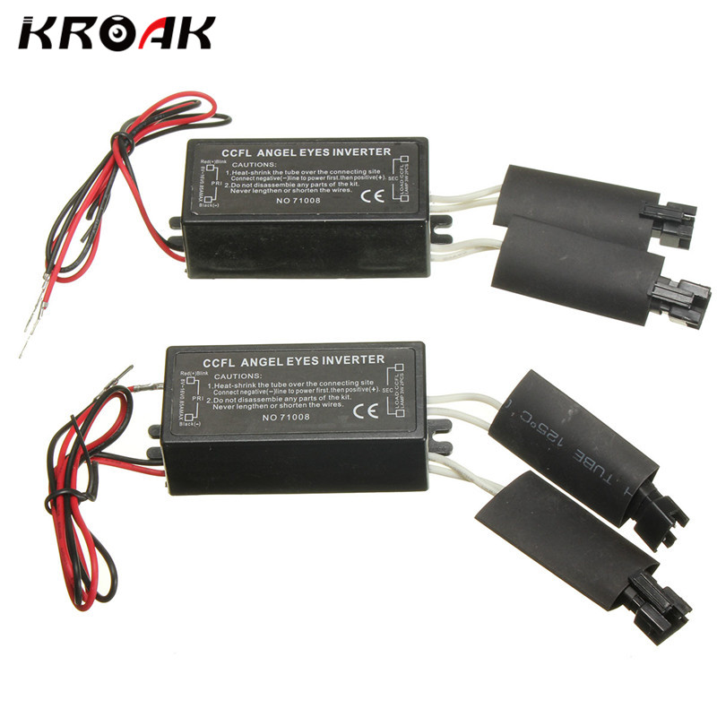 Universal 2Pcs Car Inverter For CCFL Angel Eye Light Halo Ring Spare Ballast Inverter For BMW E36 E46 E53 E83 цена