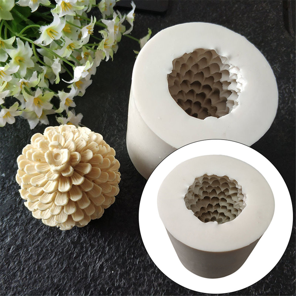 Taghua 3D Pine Cones Candle Mold Cake Decoration Party Supplies Candle Christmas Party Silicone Mold for Soap Chocolate