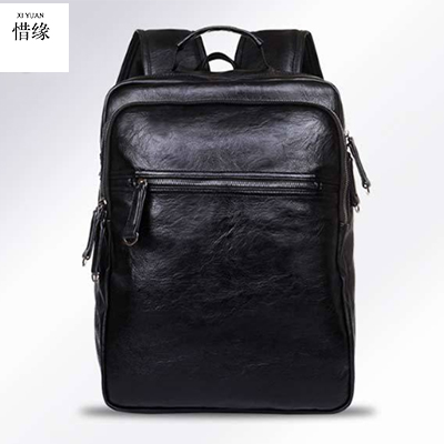 New Man Fashion Backpack Genuine Cowhide Leather Men Bags Multifunctional Men's Travel Bags Male Messenger Laptop Shoulder bag