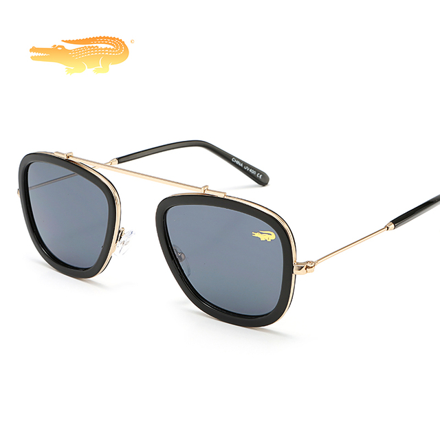 2019 Retro Vintage krokodil óculos mulheres homens marca designer óculos de sol  quadrados esportes lunette de fd6332baca