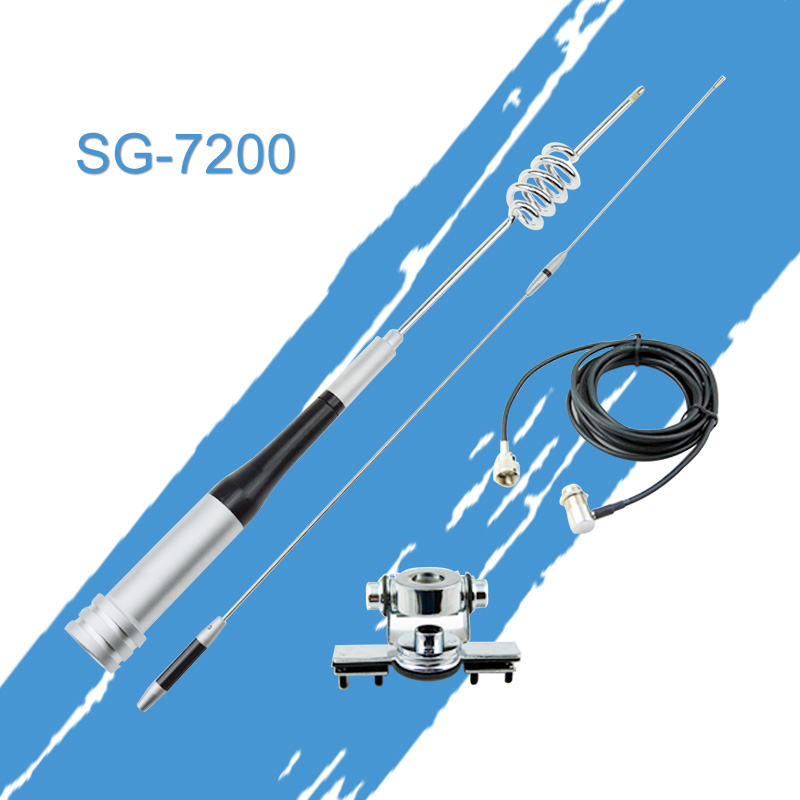 Antenna Package Mobile Antenna Mount Kit SG7200 High Gain UHF VHF Dual Band Stainless Car Clip