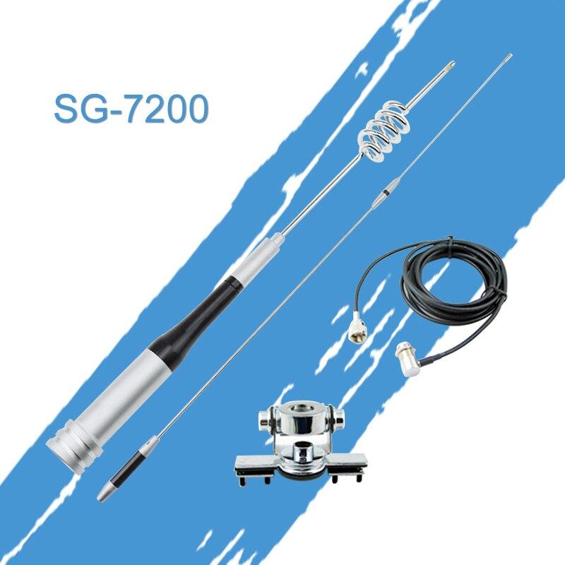 Package antenne: Antenne Mobile Mont Kit à Gain Élevé sg7200 UHF/VHF Double Bande, inoxydable Clip Voiture Montage Pour Mobile De Voiture Radio