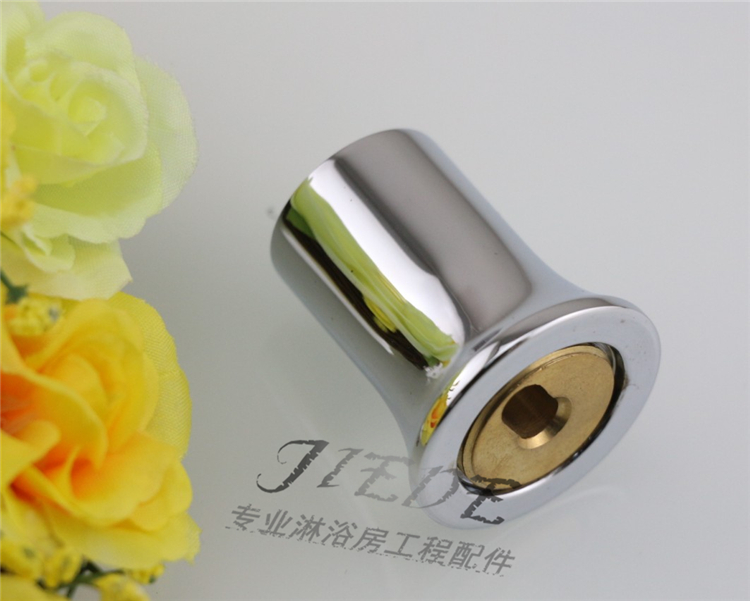 Shower room accessories glass shower curtain rod support rod head single pass fixed sealing flange seat 1925 thick copper
