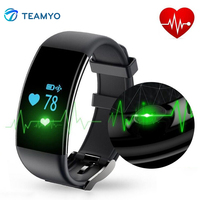 Teamyo Dfit D21 Smart wristband Sport watch Fitness bracelet Heart Rate Monitor Cardiaco Smart Band Pedometer For iOS Android