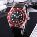41mm corgeut brand new ss caixa de vidro de safira relógios rosegold moldura vermelha luminosa verde marca mens automatic relógios de pulso