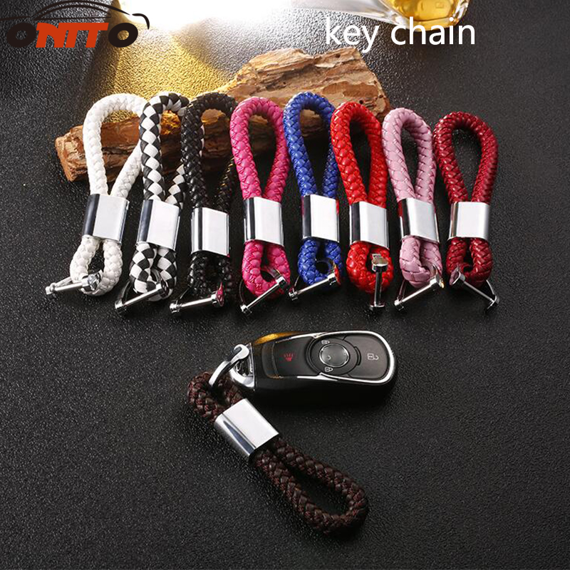 Hot selling 1pcs High Grade Key Chain Keychains Car Key Ring woven rope keys car styling