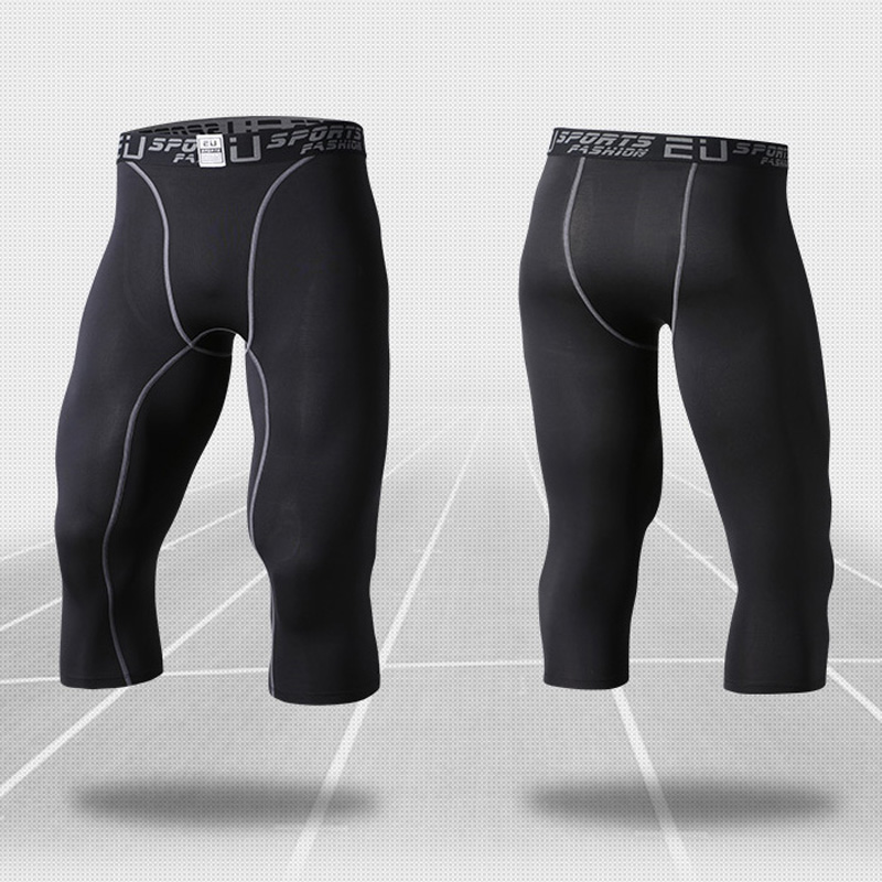 Summer Compression Cycling Tights Semi Shorts Fitness Running Shorts Basketball Yoga Bodybuilding Bicycle Sport Trousers M-XXL