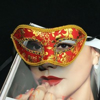 50pcs Women Half Face Crystal Stage Mask Venetian Painted Fashion Cosplay Masquerade Mask Halloween Party Mask Christmas Gift