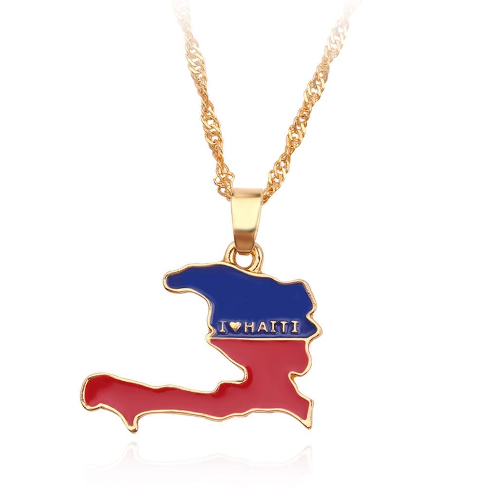 Новая карта страны, флаг, ожерелье, Африка, Гана, Liberia Undersea, Jamaica, Южная Африка, Congo, Honduras, подвеска, цепь, мужские ювелирные изделия - Окраска металла: Sonia Undersea