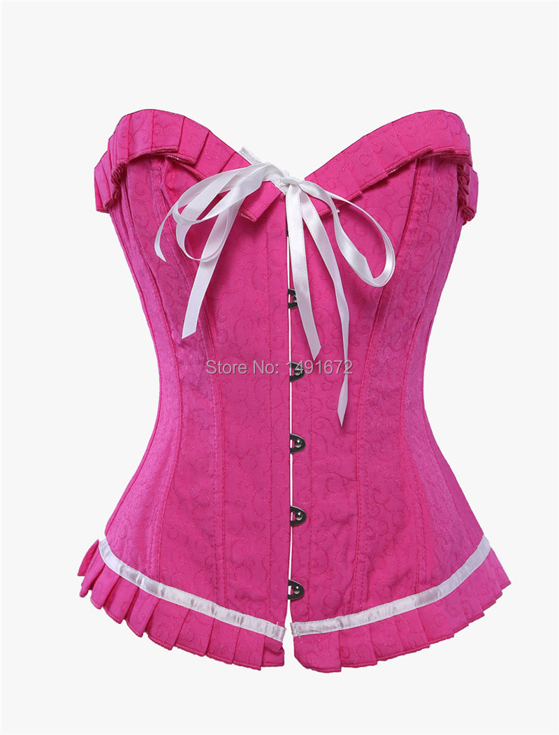 Bustier corset sexy lingerie impresión Victorian corselet overbust ...