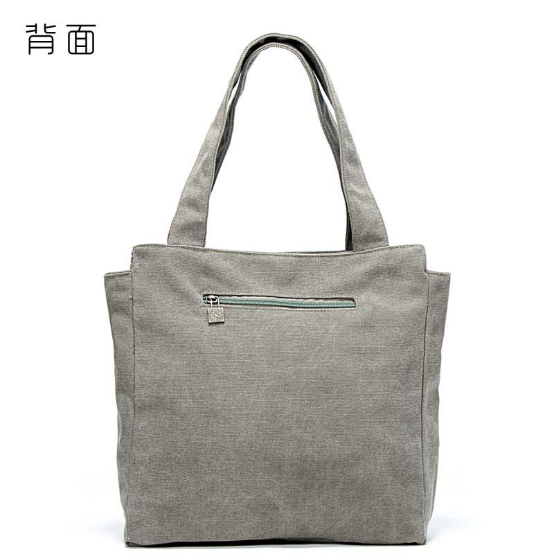fc425ec978 Single shoulder bag handbag handbag south Korean canvas bag tote bag leisure  lady 2018 summer new style