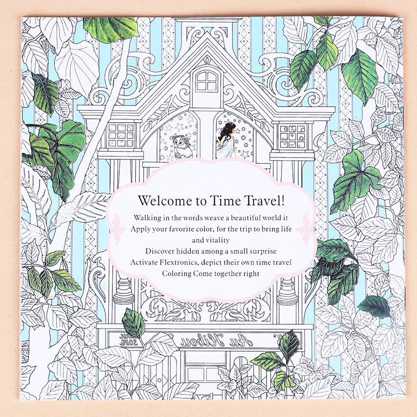 aliexpresscom buy 1 pc relieve stress kill time graffiti painting art books time travel coloring book for adult kids 185x185cm 24 pages from reliable - Travel Coloring Book