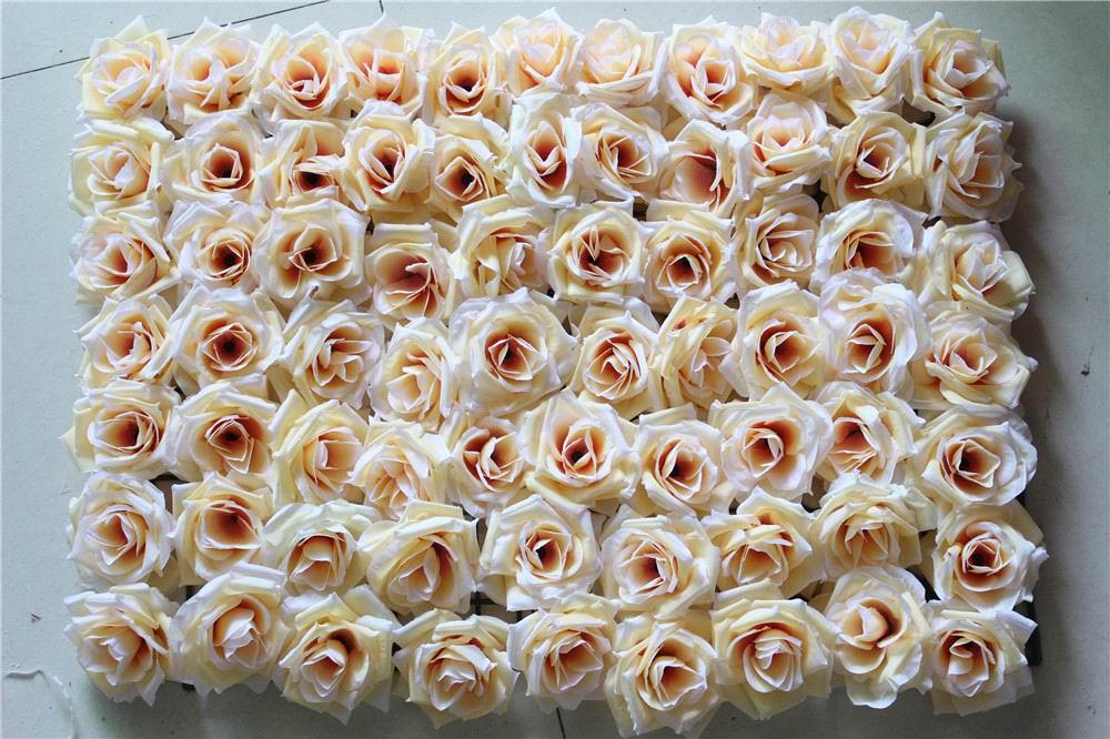 SPR 20pcs / lot 더 많은 색상 인공 실크 장미 꽃 벽 결혼식 배경 잔디 / 아치 배열 장식