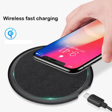 QI 10W high quality Ultra-thin Fast wireless charger pad  for iPhone X XS XR 8 Plus Samsung S8 S9 S10 for HUAWEI MATE 20 Charger ultra thin universal wireless charger for iphone android samsung