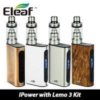 Original Eleaf IPower 80W Kit With New Clapton Coil Top E Liquid Filling Lemo 3 Atomizer