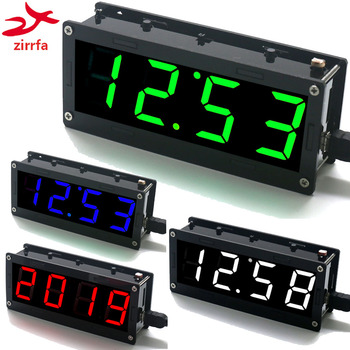 Electronic DIY Kit 1 inch digital tube Clock High precision DS3231 4-digit Display with Case Diy