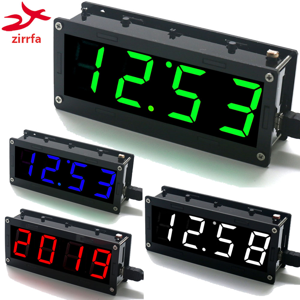 Electronic DIY Kit 1 inch digital tube Clock Kit High precision DS3231 4-digit Display with Case Diy Kit Electronic image