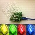 Nueva Luz LED KIT DIY 3d cubeeds Kit DIY Electrónica/Junior 3D display 4X4X4 de alta calidad