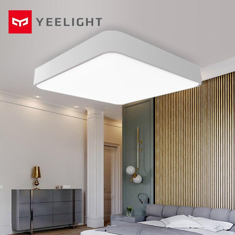 Original xiaomi mi jia yeelight quadrado inteligente led teto mais luz inteligente voz/mi casa controle app para o quarto sala de estar