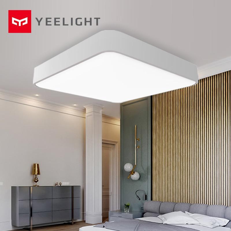 Plafond de LED carré intelligent d'origine xiaomi mi jia Yeelight Plus lumière voix intelligente/mi accueil APP contrôle pour chambre salon