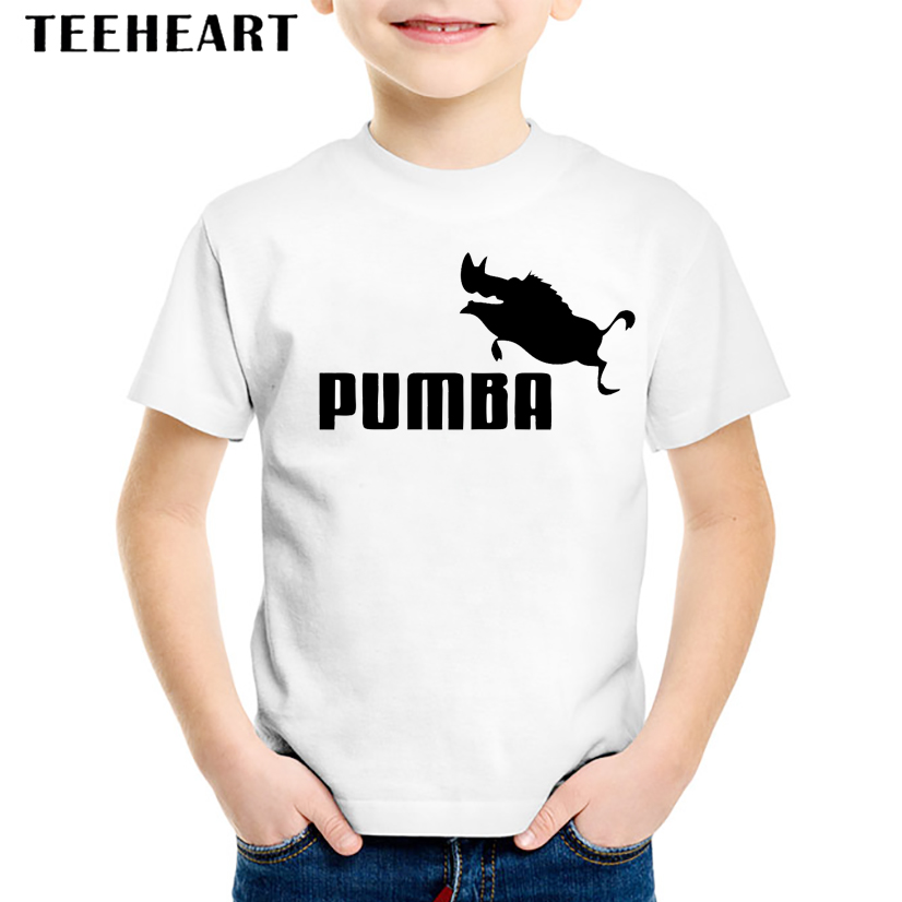 18M-10T Funny Pumba Jump Print Modal T shirt For Girl/Boy Cartoon T-Shirts for Children Baby Girls Clothing TA073 ...