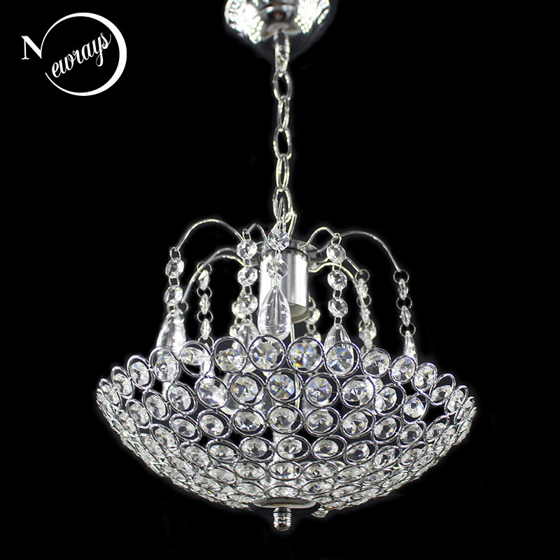 Modern Iron Crystal European Style Chandeliers E27 Retro Luster Chandelier Vintage LED Lighting For Living Room
