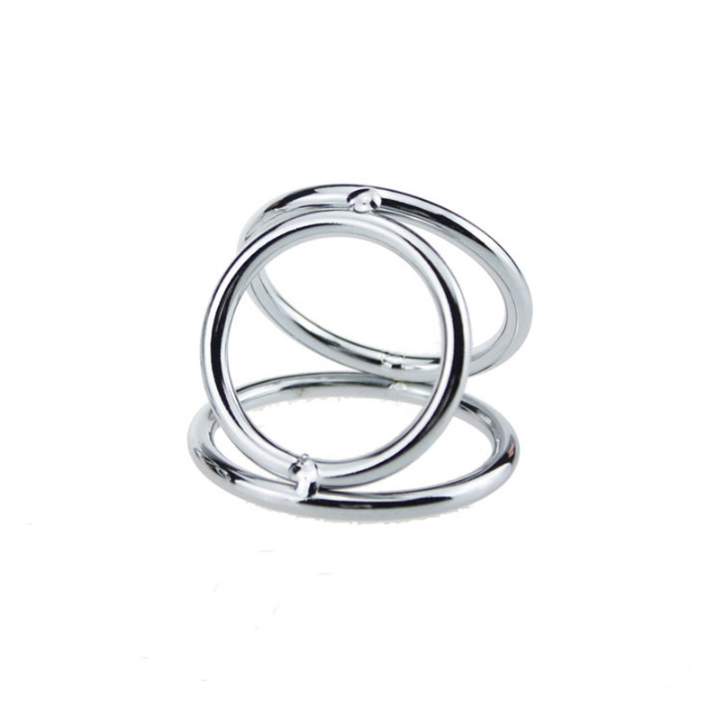 3 Cock Ring Cock Ball Stretcher Stainless Steel Penis Ring Adult Game Male Chastity Belt Lock For Men Adult Sex Toys Sex Product