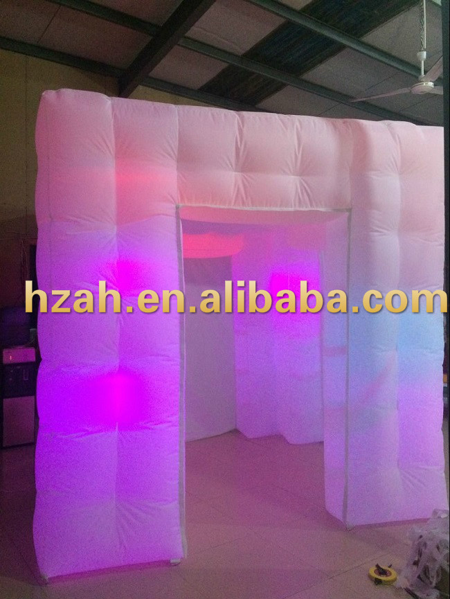 LED Lighting Inflatable Cube Photo Booth with 3 Doors  free shipping 3x3x2 4m inflatable photo booth cube inflatable photo booth led inflatable photo booth for sale