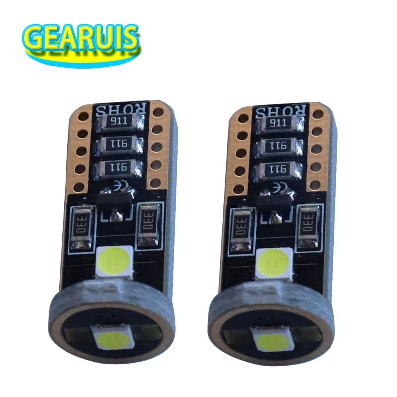 100 pièces voiture LED T10 3 SMD 3030 194 W5W 1.5 W 0.12A Non polarité lumière LED ampoule voiture lecture dôme lampe Auto Parking ampoules 12 V