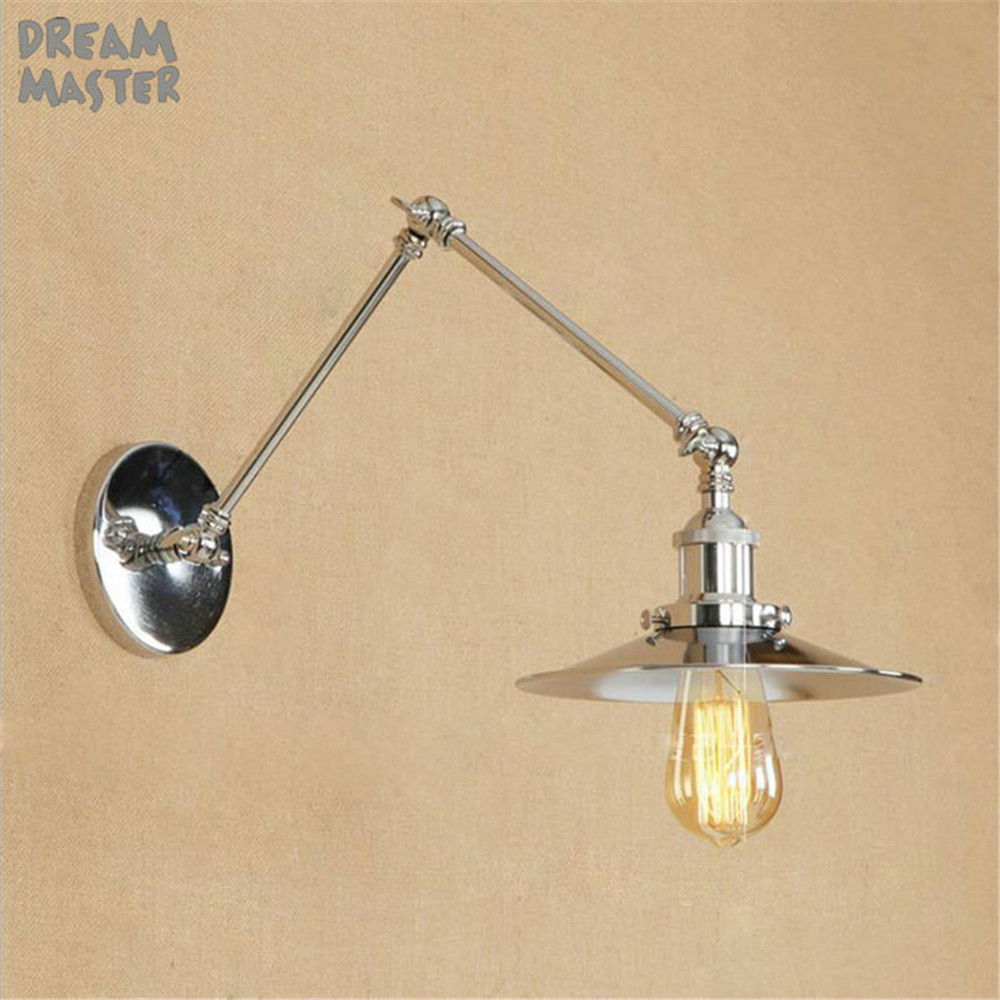 High Quality Wall Lamps Sconce Loft Chrome Plated Bathroom Light Modern Metal Wall Lamp Bedroom Bedside Sconces Dream MasterHigh Quality Wall Lamps Sconce Loft Chrome Plated Bathroom Light Modern Metal Wall Lamp Bedroom Bedside Sconces Dream Master