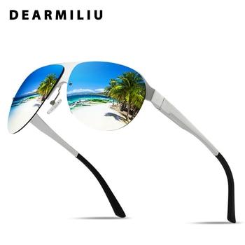 DEARMILIU Aluminum magnesium Polarized Sunglasses Men/Women Big Frame Eyewear Pilot Sun Glasses Goggle UV400 Gafas De Sol Men