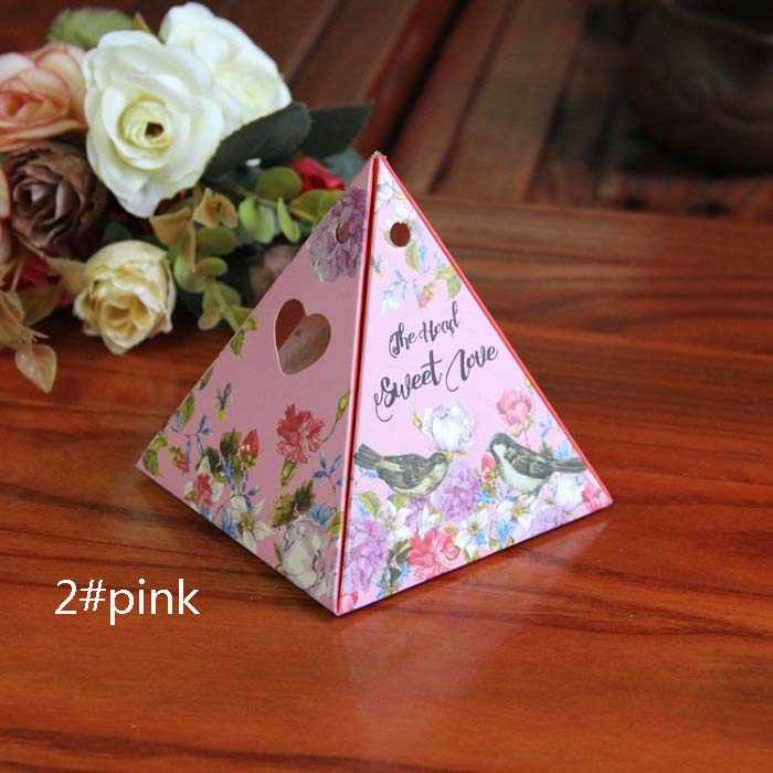 キャンディーボックスバッグチョコレート紙ギフトパッケージ用誕生日ウェディングパーティーの好意の装飾用品diy小さな星/スカイ花ピンクwh