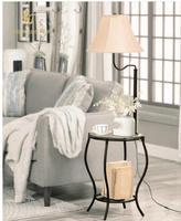 Tea table, sofa shelf floor lamp